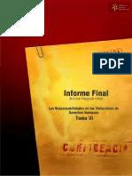 Archivo del Terror Informe Final de la Comisión de Verdad y Justicia Tomo VI