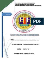 Sistemas de Control (Método Reacción de La Curva)