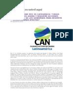 Informe IPCC, Cambio Climatico