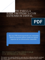 SOPORTE PARA LA BASE PROTESICA CON EXTENSION DISTAL dr felix.pptx