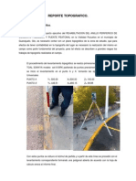 Reporte Topografico Pozuelos