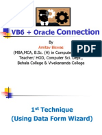 VB + Oracle Connection by AB Sir