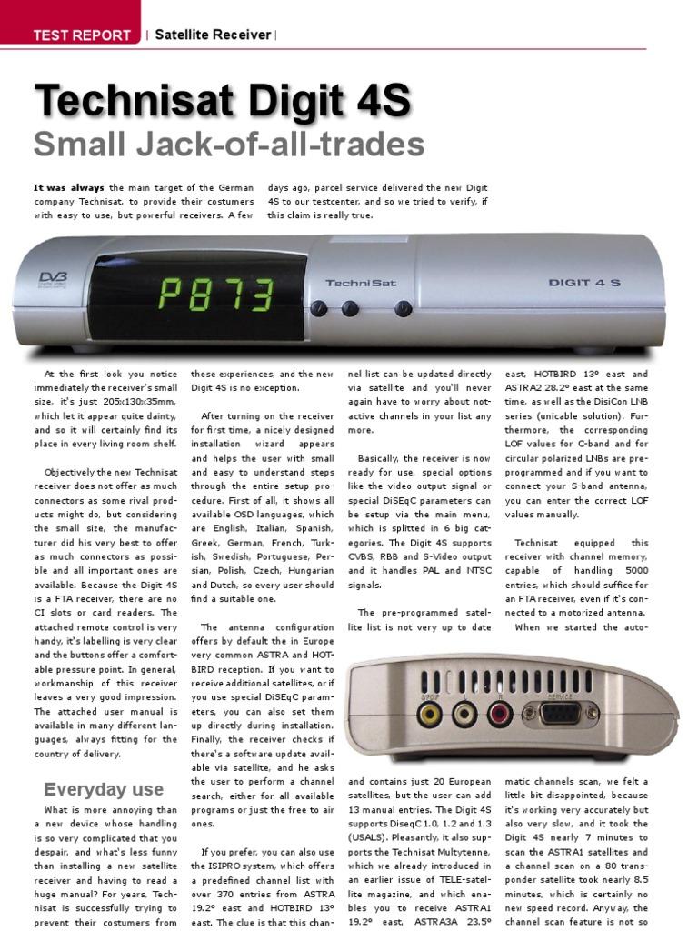 Technisat Digit 4S: Small Jack-of-all-trades
