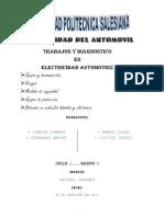 Trabajo de Electricidad Del Automovil