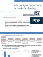Project Presentation - Effective space optimization & time reduction in part feeding activity
