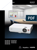 Sony Projector Spec 7823