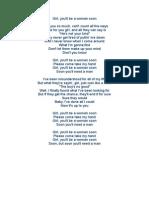 Letras Canciones Inglesl