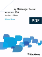 BlackBerry Messenger Social Platform SDK Release Notes 1349324 0923024150 001 1.2 Beta US
