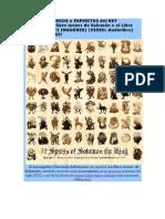 Los 72 Demonios o Espiritus Del Rey Salomón