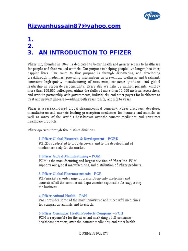 Pfizer | Pfizer | Pharmaceutical Drug