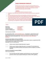 School Principal District Permission Letter Template