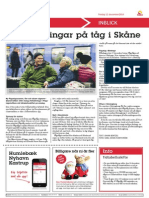 Nya Satsningar På Tåg i Skåne