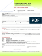 Stall Registration Form Aai 2015