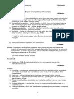 Business Enterprise Mock Exam