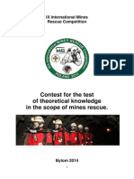 Rules for the Test of Theoretical Knowledge in the Scope of Mines Rescue (1)