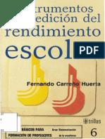 Instrumentos de Medicion Rendimiento Academico