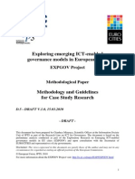 EXPGOVD5MethodologyCaseStudyResearchDraft V1.0 15032010