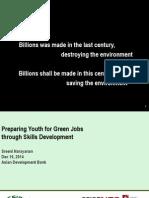 Sreenivas Narayanan-Preparing Youth for Green Jobs Through Skills Development