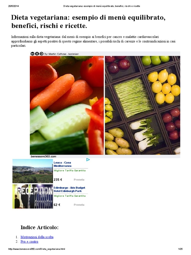 Dieta Vegetariana  Esempio Di Menù Equilibrato e18e7b68f7f2