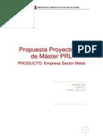 Propuesta Proyecto Fin de Master