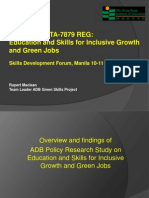 Rupert Maclean- Overview and findings of ADB Policy Research Study on Education and Skills for Inclusive Growth and Green Jobs