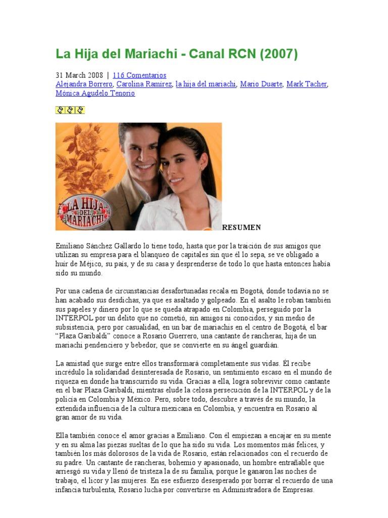 La Hija Del Mariachi Canal Rcn México Novelas
