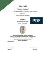 Motion Capture (Seminar Report)