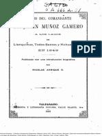 Chile, Diario de Benjamín Muñoz Gamero, Viaje a los Lagos, 1849