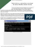 Administrar y Actualizar Una Base de Datos MySQL Desde Access - Artículo de DesarrolloWeb.com