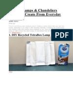 21 DIY Lamps