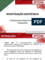 INVESTIGACAO GEOTECNICA