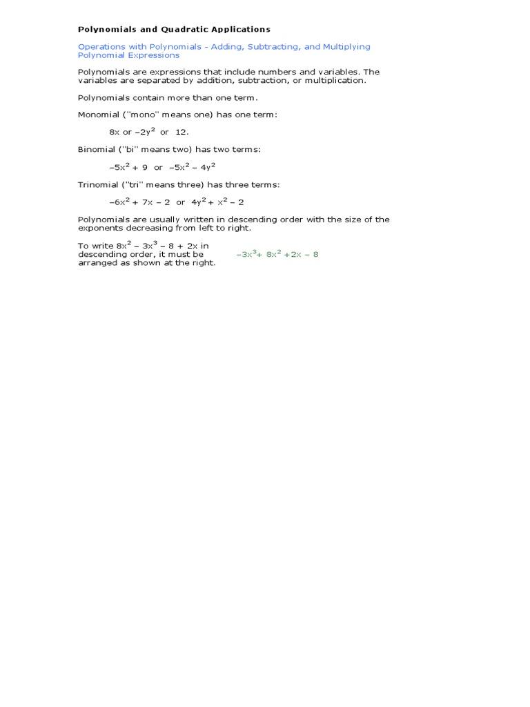 6 polynomials and quadratic applications factorization 6 polynomials and quadratic applications factorization quadratic equation falaconquin