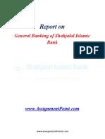 General Banking of Shahjalal Islamic Bank