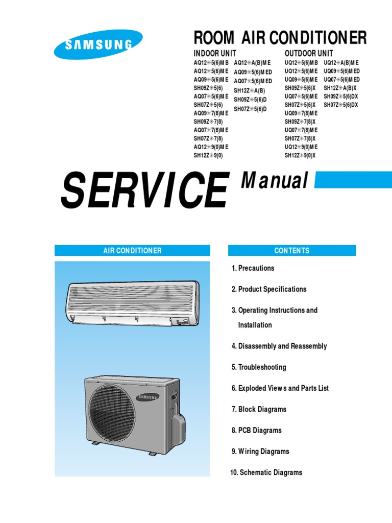 samsung air conditioner service manual air conditioning soldering rh scribd com Air Con Split Single Carrier Split Type Air Con