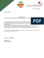 Missachtung des Beschlusses des Landtages bzgl. SüdtirolPass - Anfrage und Antwort