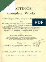Plotinos 1918 Complete Works, Vol. 2. Amelio-Porphyrian Books 22-33 (Opt)