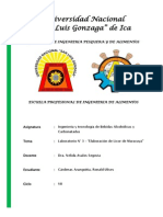 Informe - Licor de Maracuya