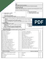 Horary Checklist