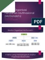 Struktur Organisasi Perusahan Multinasional