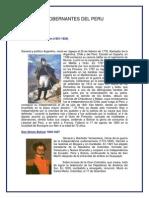 Gobernantes Del Peru
