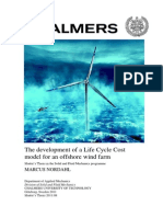 The development of a Life Cycle Cost model for an offshore wind farm