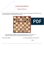 Edward Winter - Long Calculation
