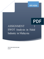 Assignment 1 - Swot Analysis in halal industry