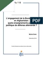 L'engagement de La Bundeswehr en Afghanistan