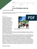 La Caza Genera en Córdoba Más de 12