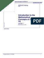 Mathematical Concepts of CATIA V5