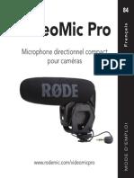 Videomicpro User Manual French Rode