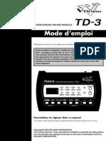 Notice Batterie Roland Td3 - Français