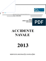 Raport Accidente Navale 2013 din Romania