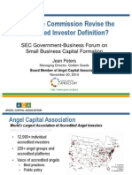Angel Capital Association Jean Peters Accredited Investor Definition
